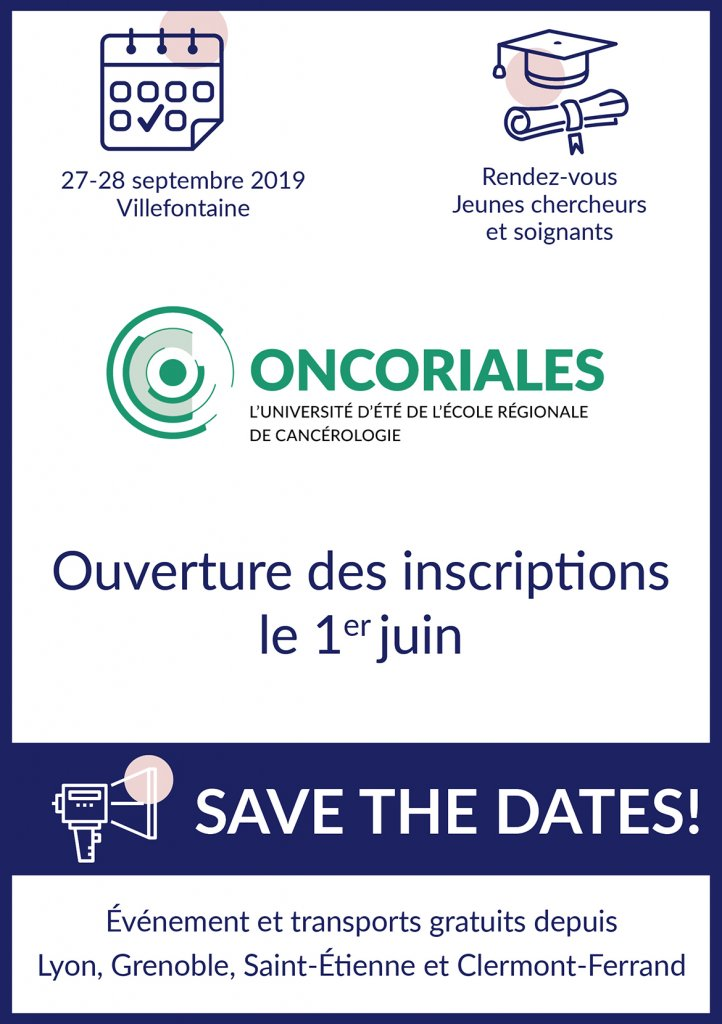 Flyer Oncoriales 2019 Save the Dates