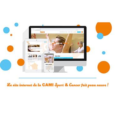 Le site internet de la CAMI Sport & Cancer fait peau neuve !
