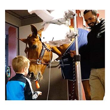 Blouses blanches et sabots noirs : un cheval au chevet des enfants