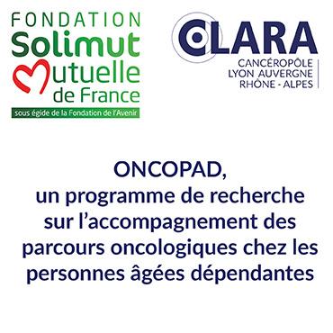 Le CLARA et la Fondation Solimut s'associent pour soutenir ONCOPAD