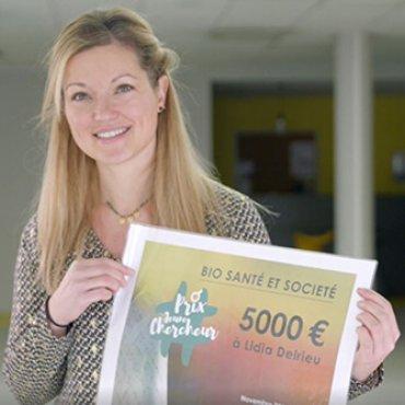 Lidia Delrieu obtient le prix biosanté et société