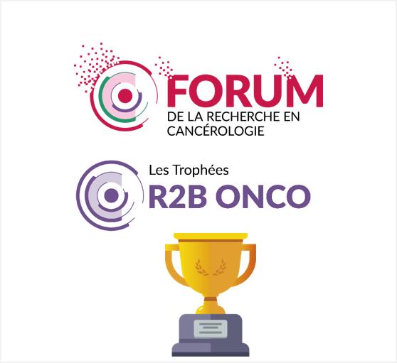 Félicitations aux 2 lauréats du Trophée R2B Onco 2021 !