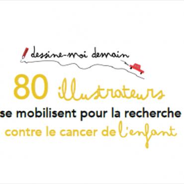 Vente d'illustrations en ligne lancée par l'association 2500 Voix pour financer la recherche en oncopédiatrie